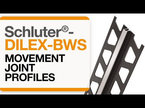 How to install a movement joint in tile: Schluter®-DILEX-BWS