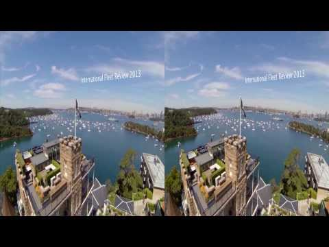 3D GoPro Quadcopter flight at International Fleet Review Sydney 2013