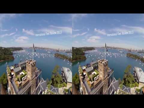 3D GoPro Quadcopter flight at International Fleet Review Sydney 2013