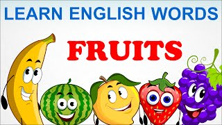 Fruits | Pre School | Learn English Words (Spelling) Video For Kids and Toddlers
