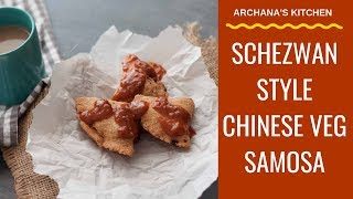 Chinese Veg Samosa - Tea Time Evening Snack Recipes by Archana's Kitchen