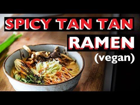 SPICY TAN TAN VEGAN RAMEN RECIPE | HOW TO MAKE JAPANESE NOODLE SOUP