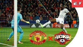 Manchester United  2 x 1 CSKA Moscow  Champions League (Liga dos Campeões )