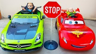 Doll and Funny Max Driving Car ride on POWER WHEEL