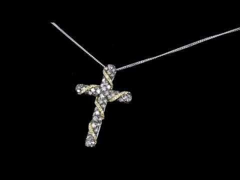 Browns Family Jewellers White Gold And Diamond Cross