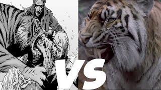 Shiva Death Comparison - The Walking Dead TV Show VS Comic