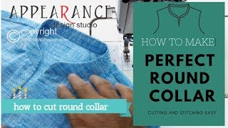 PERFECT ROUND COLLAR CUTTING AND STITCHING EASY  HOW TO MAKE new 2019
