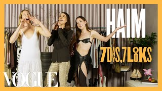 Every Outfit the Haim Sisters Wear in a Week | 7 Days, 7 Looks | Vogue