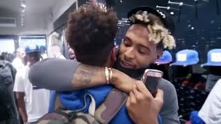 Odell Beckham Jr. Comforts Crying Fan