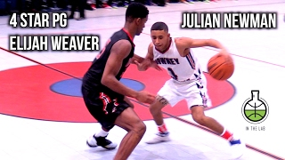 Julian Newman Meets 4 Star PG Elijah Weaver!! Wild 2 OT GAME, Full In Depth Highlights