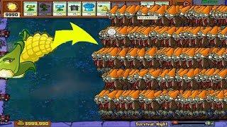 Plants vs Zombies Hack - Cob Cannon vs 99999  Zombie PvZ Mod
