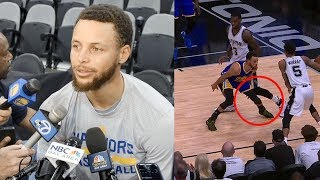 Steph Curry CALLS OUT Dewayne Dedmon Over Cheap Shot to the Knee: