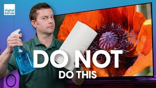How to clean a TV screen the right way | Avoid damage to your 4K flat screen!