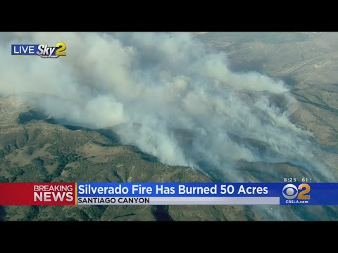 Silverado Fire Explodes East Of Irvine