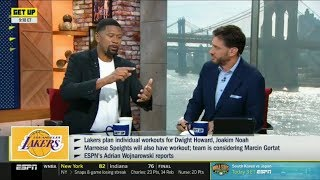 ESPN GET UP | Jalen Jose REACT to Lakers plan individual workout for Dwight Howard, Joakim Noah