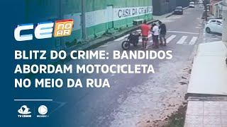 BLITZ DO CRIME: Bandidos abordam motocicleta no meio da rua