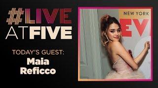Broadway.com #LiveatFive with Maia Reficco of EVITA