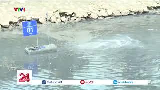 Sông Tô Lịch giảm mùi hôi sau 3 ngày thử nghiệm công nghệ Nhật Bản | VTV24