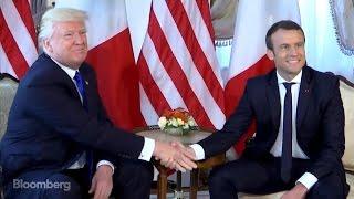 Macron-Trump Handshake Under the Microscope