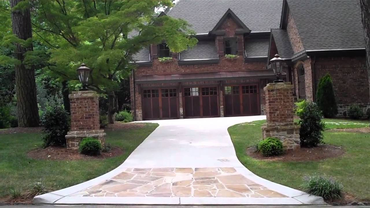 Entry Columns On Driveway Is An Elegant Touch To A Home