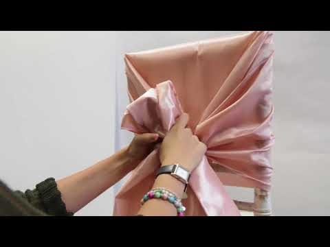 Taffeta Chair Hoods - How to Tie - ChairCover Depot