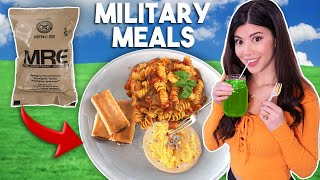 I Tried Eating ARMY Ration Food for 24 Hours (MRE Meals)