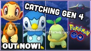 CATCHING GEN 4 CHIMCHAR PIPLUP & TURTWIG IN POKEMON GO | TOP GEN 4 MOVESETS