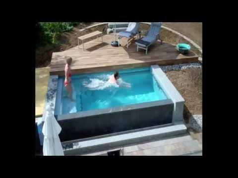 schwimmbadbau dokumentation eines pool im garten im. Black Bedroom Furniture Sets. Home Design Ideas
