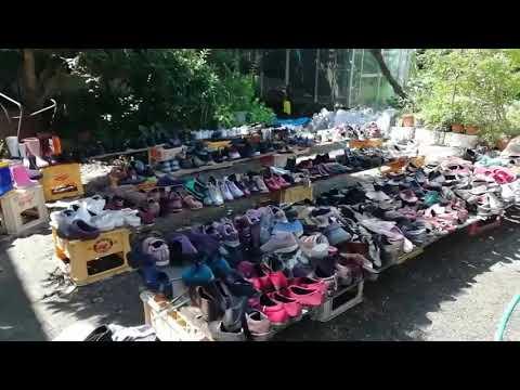 つぼや履物店 水災後 靴を洗う様子②