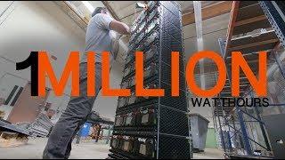 1 million watt hour 355V SOLAR STORAGE battery