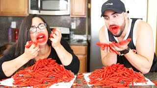 HOT CHEETOS & TAKIS FUEGO CHALLENGE !!!!