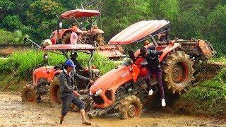GIÀN KUBOTA KHỦNG LÊN CẦU & CÁI KẾT KHÔNG NGỜ TỚI CHO BÁC TÀI MIỀN TÂY /tractor video vietnam