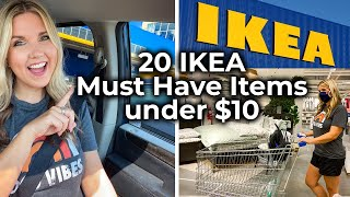 20 IKEA Must Have Items Under $10 - Decor + Organization from IKEA