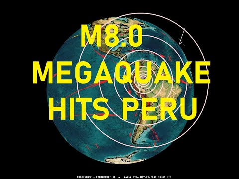 5/26/2019 -- Extremely Large M8.0 Earthquake strikes Peru -- Biggest on planet