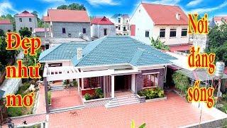 Mẫu nhà cấp 4 mái Thái đẹp như tranh vẽ nơi đáng sống của đại gia vùng nông thôn 2019