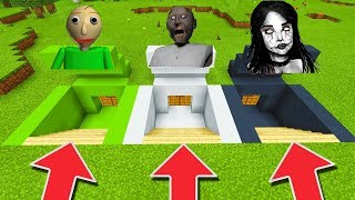 Minecraft PE : DO NOT CHOOSE THE WRONG SECRET BASE! (Momo, Baldi's Basics & Granny)