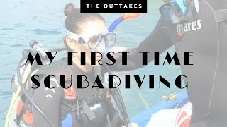 My first time scuba diving! Getting in was the hardest part haha!