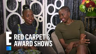 Lupita Nyong'o Talks Natural Chemistry With Chadwick Boseman | E! Red Carpet & Live Events