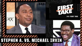 Michael Irvin takes it to Stephen A. in Cowboys debate: First time I've seen you sweat! | First Take