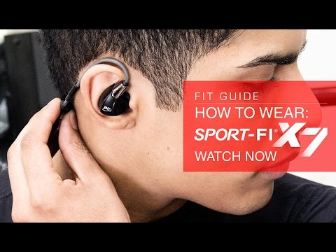 Guide: How to Wear the MEElectronics Sport-Fi X7 Bluetooth Wireless Earphones