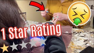 Getting Our Nails Done at the WORST RATED NAIL SALON in our CITY! 1 STAR! OMG!