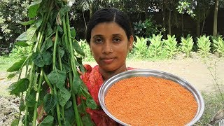 Pui Shak & Masoor Dal Recipe | Basella Spinach and Lentil Curry Cooking By Street Village Food