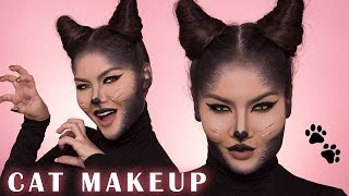 CAT MAKEUP HALLOWEEN TUTORIAL | Maryam Maquillage