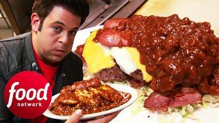 Adam Wrestles To Finish 6.5 Lbs Jonny B Good Challenge   Man v Food