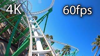 Desert Storm front seat on-ride 4K POV @60fps Castles N' Coasters