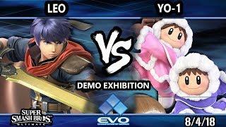 Evo Demo SSBU - Leo (Ike) Vs. YO-1 (Ice Climbers) Smash Ultimate