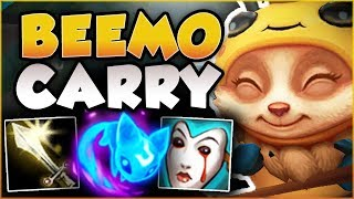 DON'T LET MY CUTENESS FOOL YOU! NEW BEEMO IS LETHAL! TEEMO SEASON 8 TOP GAMEPLAY! League of Legends
