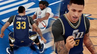 NBA 2K16 MyCAREER Playoffs WCFG2 - NOOOO!! WTF IS HE DOING!?! StepDaddy J EMBARRASSES K.FARIED!
