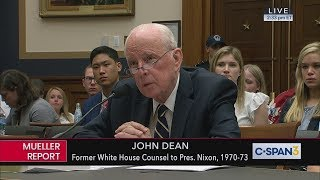 John Dean opening statement before House Judiciary Committee (C-SPAN)