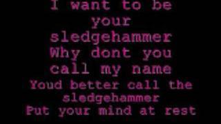 Peter Gabriel - Sledgehammer lyrics